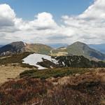 Вид на вершины Берлебашка и Петрос с Попа Ивана.